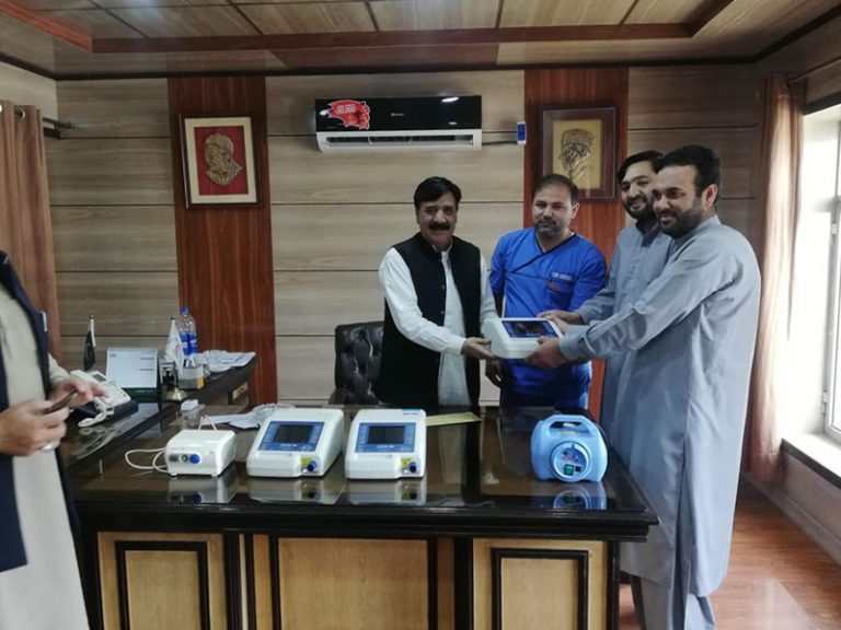 Donation of Ventilatory support machines to Pakistan to help patients with COVID-19